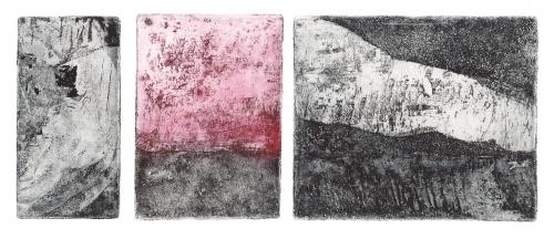 Triptyque gravure couleur